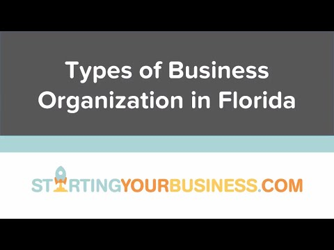 Types of Business Organization in Florida - Starting a Business in Florida