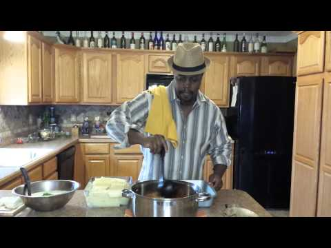Cooking Lasagna, Italian Sausage and Cheesy Garlic Bread with Jimmy L. Anderson
