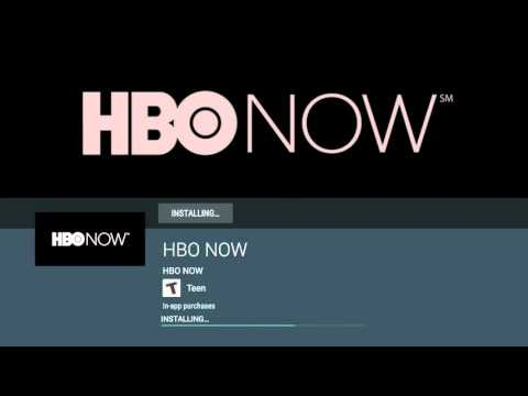 How to install HBO Now On Android TV