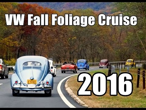 Classic VW BuGs 2016 Fall Foliage Cruise Hudson Valley NY Air Cooled Beetle Ghia Bus Convoy