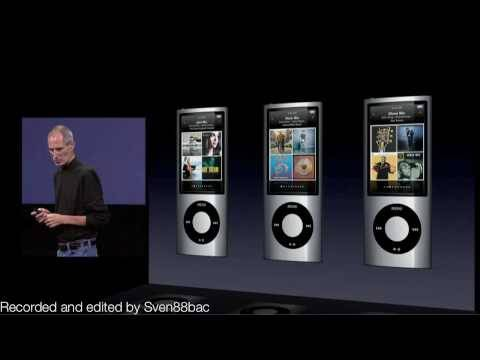 Apple Sept 2009 Music Event Keynote - iPod Nano 5G introduction