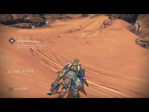 Destiny How to get to the Barrens  from the Scablands Fast