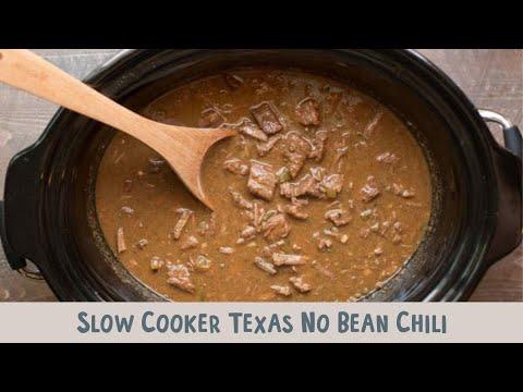 Slow Cooker Texas No Bean Chili