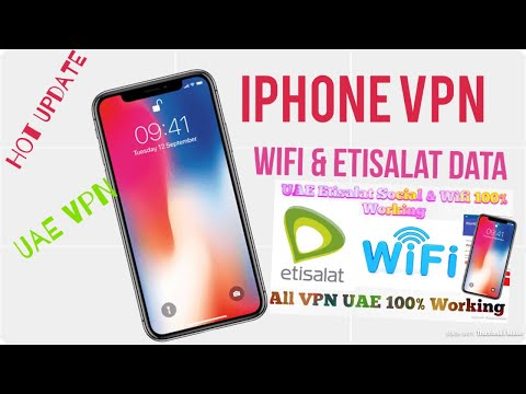 VPN For Iphone, WiFi & Etisalat Data 100% Good Working UAE