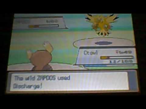 pokemon soul silver - 3 legendary bird zapdos try 1
