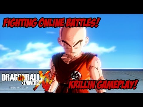 [BETA] Dragon Ball Xenoverse - Fighting Online Battles! [Krillin Gameplay]