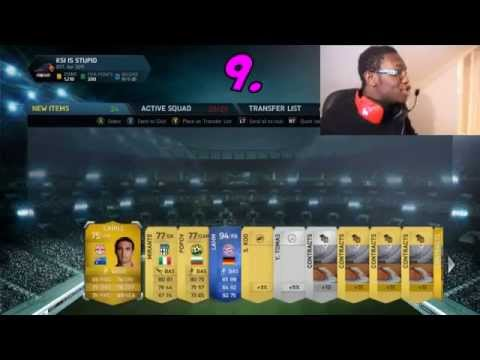 TOP 10 PACK OPENING REACTIONS |FIFA 14 | FT.HAZARD , RONALDO , MESSI AND AGUERO