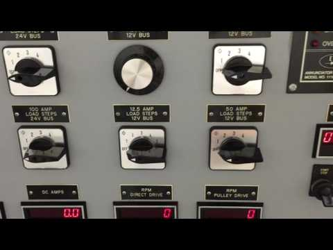 Heavy Duty Alternator, starter, generator test stand demo-Auto, Aircraft