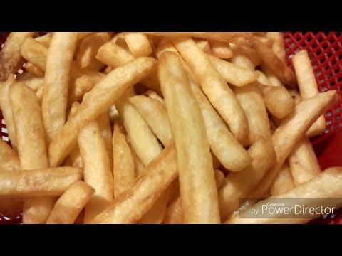 Frozen fries frying chips