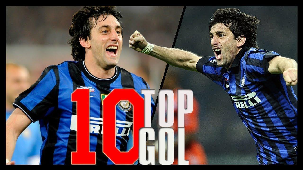 I 10 Gol più belli di Milito con la maglia dell'Inter