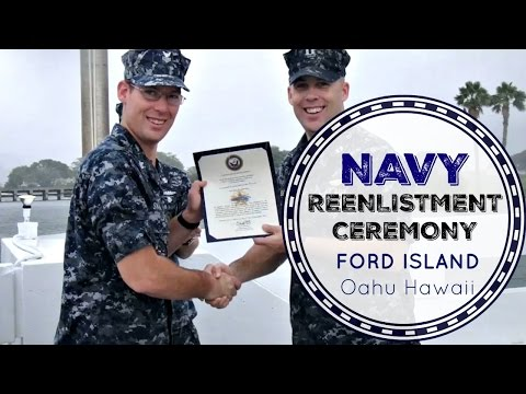 NAVY REENLISTMENT CEREMONY | Mike is reenlisting?!