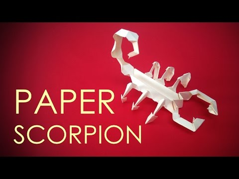 How to make easy and quick paper scorpion - by vyouttar origami - VM2