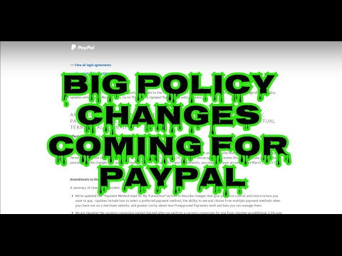 Policy Changes for Paypal Affects Streamers, esp for Chargebacks