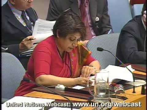 Radhika Coomaraswamy At Security Council Open Debate on Children and Armed Conflict UN- 2008