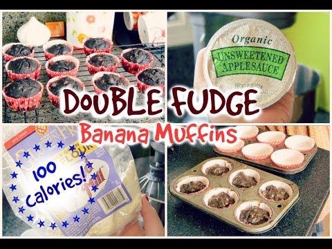 Healthy Snack Ideas! | Double Fudge Banana Muffins