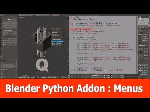 Blender Python Addon : Menus