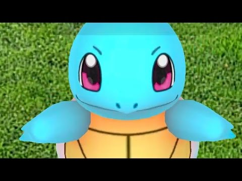 catching squirtle in pokemon go