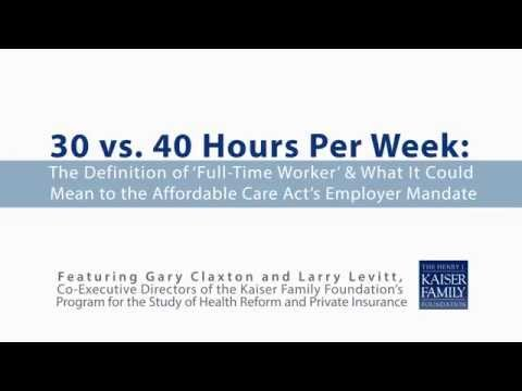 The Definition of 'Full-Time Worker' and Implications for the ACA's Employer Mandate