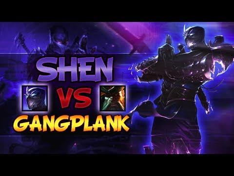 Shen VS Gangplank - Top Lane Season 8 [SHEN MAIN] - League Of Legends
