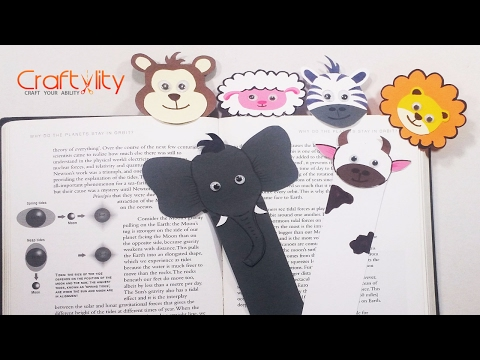 DIY Long animal bookmarks | How to make Long animal bookmark tutorial | Cute & funny Animal Bookmark