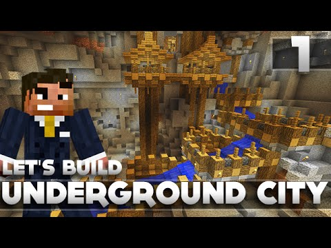 Minecraft - Advanced Underground City/Base Tutorial Let's Build Part 1 Xbox 360/PC/PS3