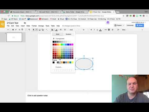 How to draw shapes and change their colour in Google Slides