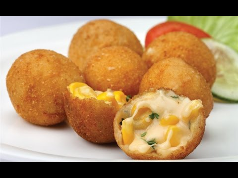 Cheese Corn Balls | Cheese Ball | Vegetable Cheese Roll | Quick Easy To Make Party Appetizer