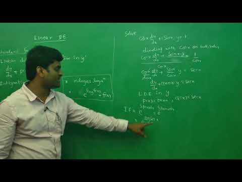 Linear differential equation Example 2: Best Engineering Mathematics Tips (AU,JNTU ,GATE,DU)