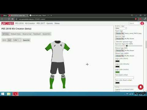 Create And Import Kits in PES 2018( The EASY Way )