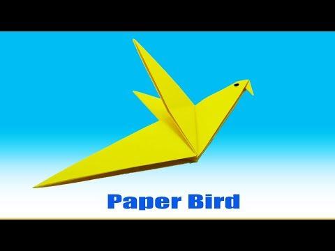 How to make a flying bird - Paper bird Best Tutorial