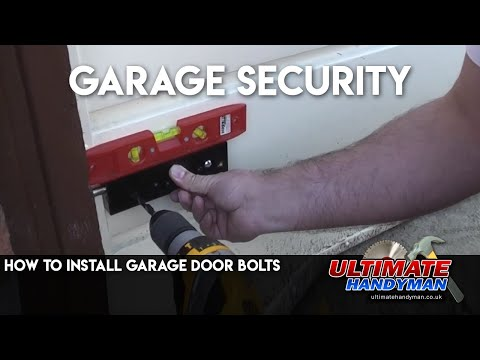 How to install garage door bolts
