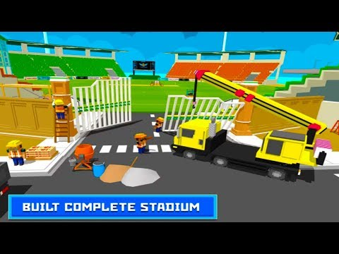 Stadium Construction : Play Town Building Games Android Gameplay