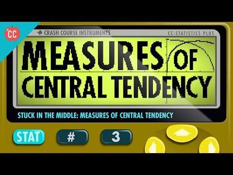 Mean, Median, and Mode: Measures of Central Tendency: Crash Course Statistics #3