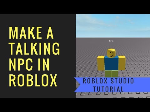 Roblox | How to make a talking NPC (Quickster Games)