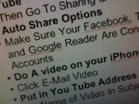 How to send video from your iPhone 3GS to your social netwo