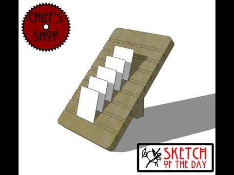 Chief's Shop Sketch of the Day: Playing Card Holder
