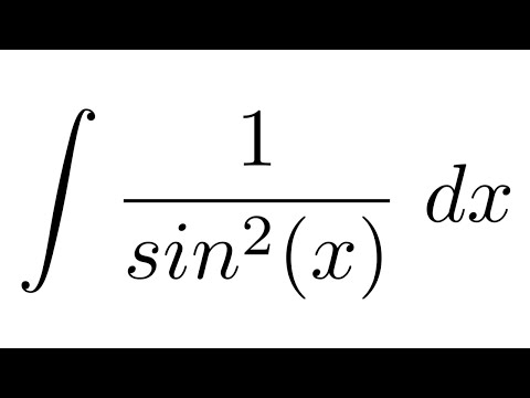 Integral of 1/sin^2(x) (substitution)