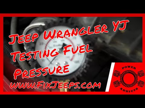 Jeep Wrangler YJ 4.0 - Testing fuel pressure with a