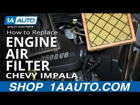 How To Install Replace Engine Air Filter 2006-2013 Chevy Impala V6