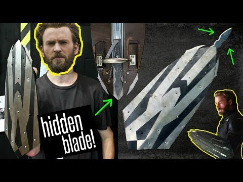 REAL METAL Captain America INFINITY WAR Shield (with HIDDEN BLADE!!)