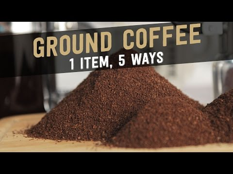 Ground coffee: 1 item, 5 Ways