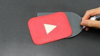 How To Draw A Youtube Play Button 1000 Subscribers Colorful Days