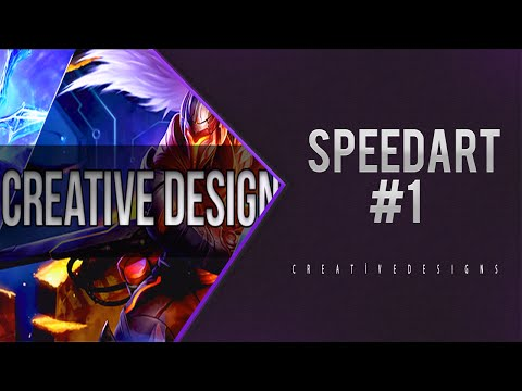 #SpeedArt//Lol Facebook Cover Photo//by Creative Design (60 FPS 1080p)