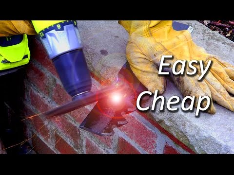 Easy and cheap way to sharpen lawn mower blade