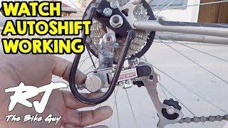 Landrider Auto Shift Rear Derailleur - How It Works (Auto Shifting Bike)