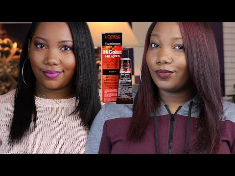 How to: Coloring My Texlaxed Hair (NO BLEACH) using Loreal HiColor Highlights Magenta