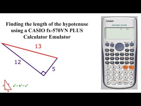 Finding the length of the hypotenuse (right-angle triangle) using a CASIO Calculator