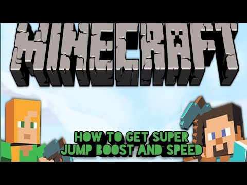 HOW TO GET SUPER SPEED jump boost on Minecraft PE