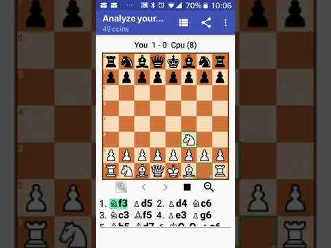 Beating level 8 chess engine at 1680 ELO Rating