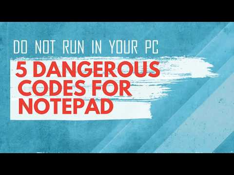 5 dangerous codes for notepad that can crash any pc